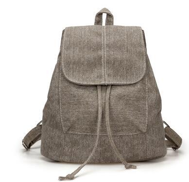 Nádherný dámsky ruksak z khaki rifloviny