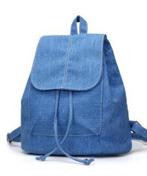 Nádherný dámsky ruksak z modrej rifloviny
