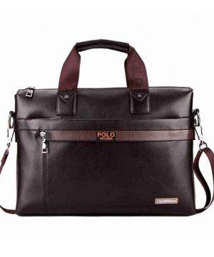 Pánska kožená pracovná taška vo farbách. Táto nádherná kožená taška na rameno poteší a padne do oka každému (2)