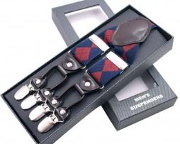 Prestížne kožené traky s elastickým pásom v kráľovskom štýle (1)