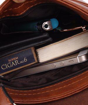 bfa102a370 The product is already in the wishlist! Browse Wishlist · Retro kožená taška  cez plece POLO SMALL v čiernej farbe