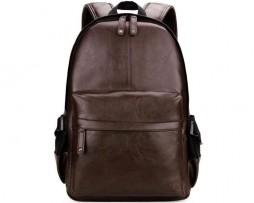 Unisex mestský ruksak z kože vo farbách vhodný pre pánov aj dámy (3)
