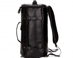 Unisex vysokokapacitný ruksak na cestovanie z kože v čiernej farbe je vhodný pre pánov aj dámy (5)