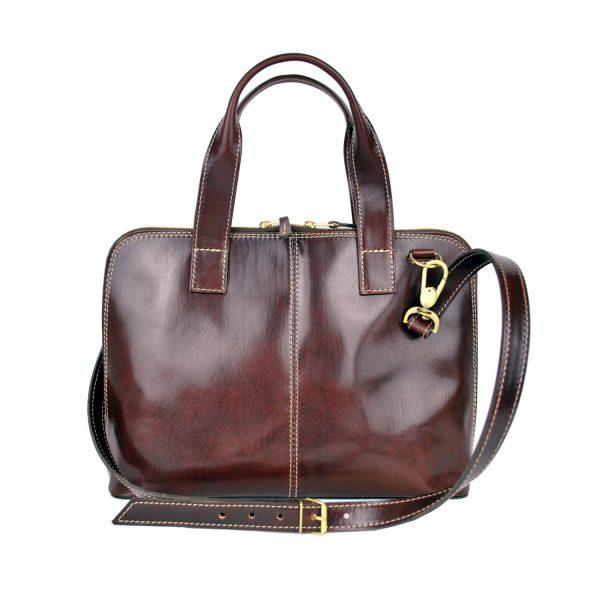 Dámska kožená kabela vhodná na formát A4, dámska kabelka, kabelka z kože (1)