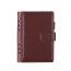 Veľký kožený zápisník s otváraním na magnet v hnedej farbe (4)