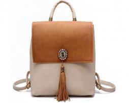 Univerzálny kožený batoh na chrbát, cez plece a do ruky vo farbách (10)