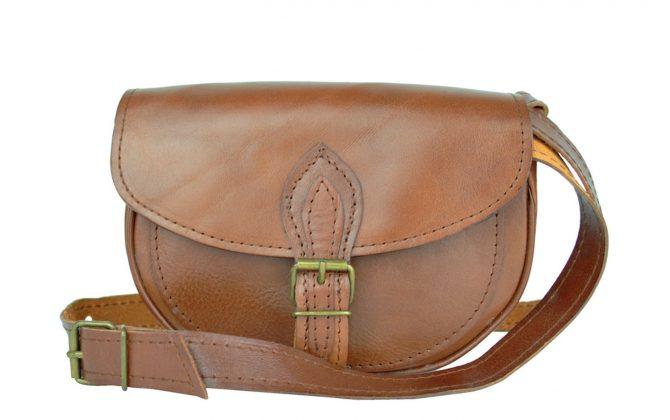 Kabelka kožená MINI v hnedej farbe, mini kabelka (3)