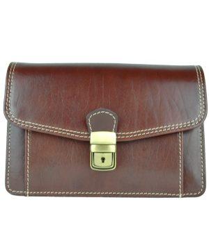 Luxusná kožená etua č.7883, viacúčelové púzdro v hnedej farbe (1)
