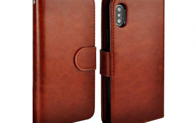 Magnetický-univerzálny-obal-pre-iPhone-X-z-kože-v-hnedej-farbe-