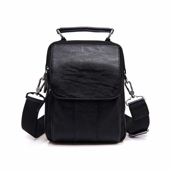 47f7305cb Módna taška cez rameno s držadlom v čiernej farbe - Kožená ...