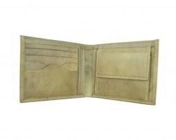Elegantná peňaženka z pravej kože č.8406 v khaki farbe (1)