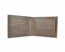 Elegantná peňaženka z pravej kože č.8406 v tmavo hnedej farbe (2)