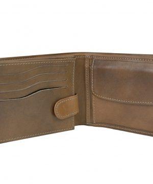 87236830d4 Elegantná peňaženka z pravej kože č.8552 v hnedej farbe (2)