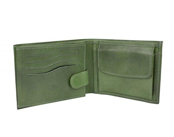 Luxusná elegantná peňaženka z pravej kože č.8552 v zelenej farbe (2)