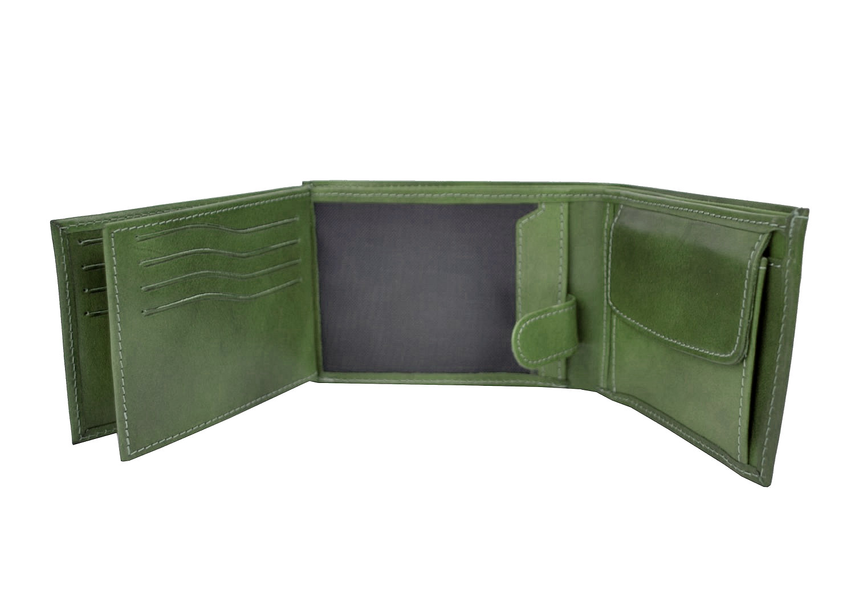 8f16e400e9 Elegantná peňaženka z pravej kože č.8552 v zelenej farbe