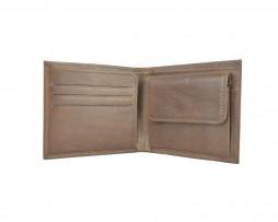 Luxusná peňaženka z pravej kože č.7942 v hnedej farbe (1)