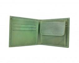 Luxusná peňaženka z pravej kože č.7942 v zelenej farbe (1)