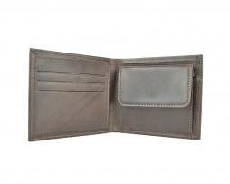 Pánska luxusná peňaženka z pravej kože č.7942 v tmavo hnedej farbe (1)