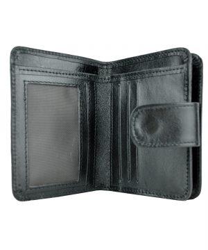 Dámska malá praktická kožená peňaženka č.8504 v čiernej farbe (3)