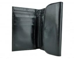 Kožená dámska peňaženka č.8465 v čiernej farbe z pravej usne (1)