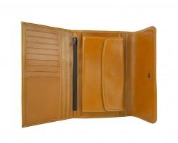 Kožená dámska peňaženka č.8465 v khaki farbe (3)