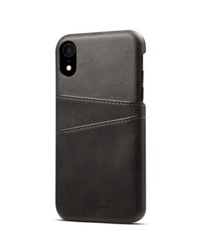 9e46ae9b3 Kožený kryt pre iPhone XS s púzdrom na karty, čierna farba