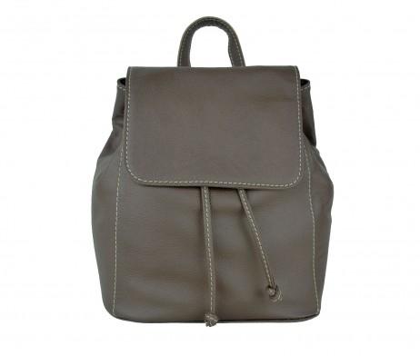 Moderný kožený ruksak z pravej hovädzej kože č.8659 v hnedej farbe (3)