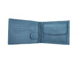 Pánska peňaženka z pravej kože v tmavo modrej farbe (5)