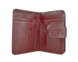 Dámska praktická kožená peňaženka č.8503 v bordovej farbe (3)