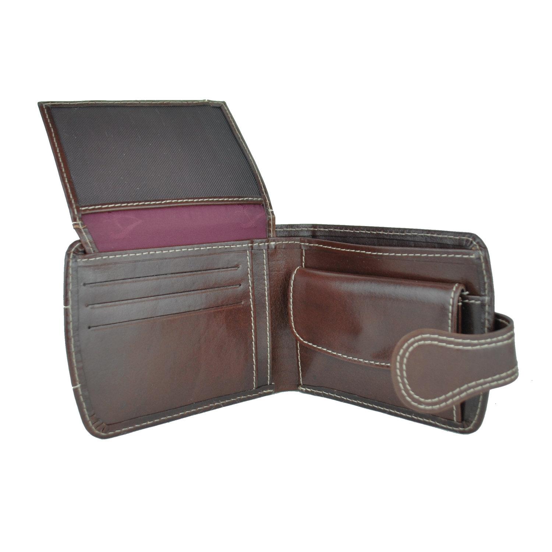 85953e545 Elegantná kožená peňaženka č.8467 v tmavo hnedej farbe   Kožená ...