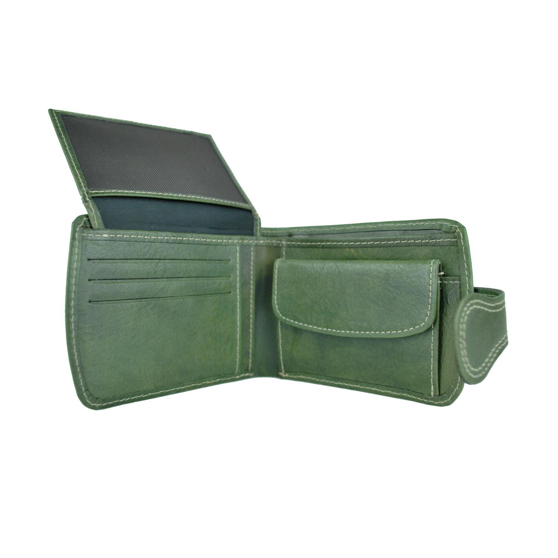 974c786fc Elegantná kožená peňaženka č.8467 v zelenej farbe, ručne tamponovaná (5)