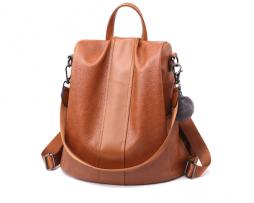 Kožený dámsky ruksak s možnosťou využitia kabelky vo farbách (5)