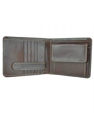 Peňaženka z prírodnej kože č.7992 v tmavo hnedej farbe (6)