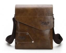 Kožená-taška-POLO-cez-plece-v-khaki-farbe-2