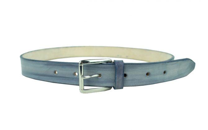 Kožený opasok, ručne vytvorený efekt riflového melíru, 3cm (1)