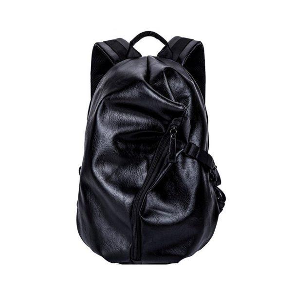 Unisex módny ruksak z kože, čierna farba (1)