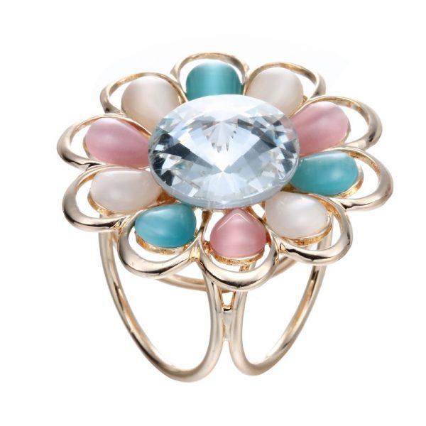 Elegantný ozdobný šperk na šatku v tvare farebného kvetu (2)