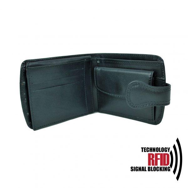 Kožená RFID peňaženka vám zabezpečí bezpečie pred neopraveným oskenovaním Vašej kreditnej alebo debetnej karty (3)