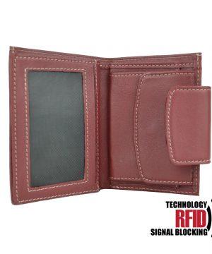 Kožená RFID peňaženka v červenej farbe č (3)