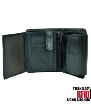e0279398ec The product is already in the wishlist! Browse Wishlist · Kožená RFID  peňaženka v čiernej farbe č ...