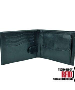 Kožená RFID peňaženka v čiernej farbe č (2)