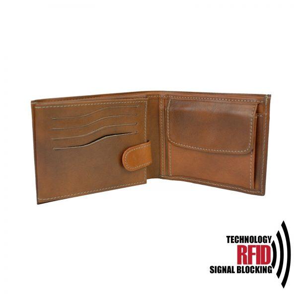 Kožená RFID peňaženka v hnedej farbe č (4)