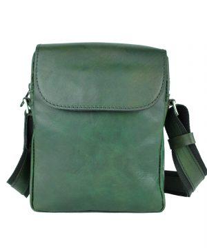 Luxusná kožená etuja z lesklej hovädzej kože č.8365, ručne tamponovaná, zelená farba (3)