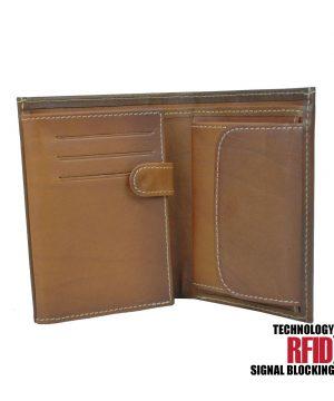 Ochranná kožená peňaženka v hnedej farbe č (1)
