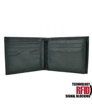 Ochranná pánska kožená peňaženka v čiernej farbe (3)