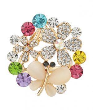Ozdobný šperk na šatku v tvare kryštálového motýľa (5)