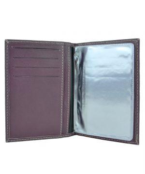 Púzdro na doklady z pravej prírodnej kože vo fialovej farbe (4)