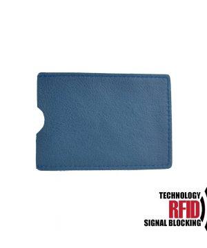 Ochranné kožené púzdro na debetné a kreditné karty, modrá farba (2)