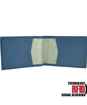 Ochranné kožené púzdro na debetné a kreditné karty v modrej farbe (2)