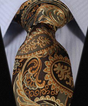 Luxusný pánsky kravatový set – kravata + vreckovka v kráľovskom štýle